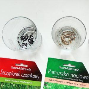 doniczki na zioła DIY moczenie nasion ziół