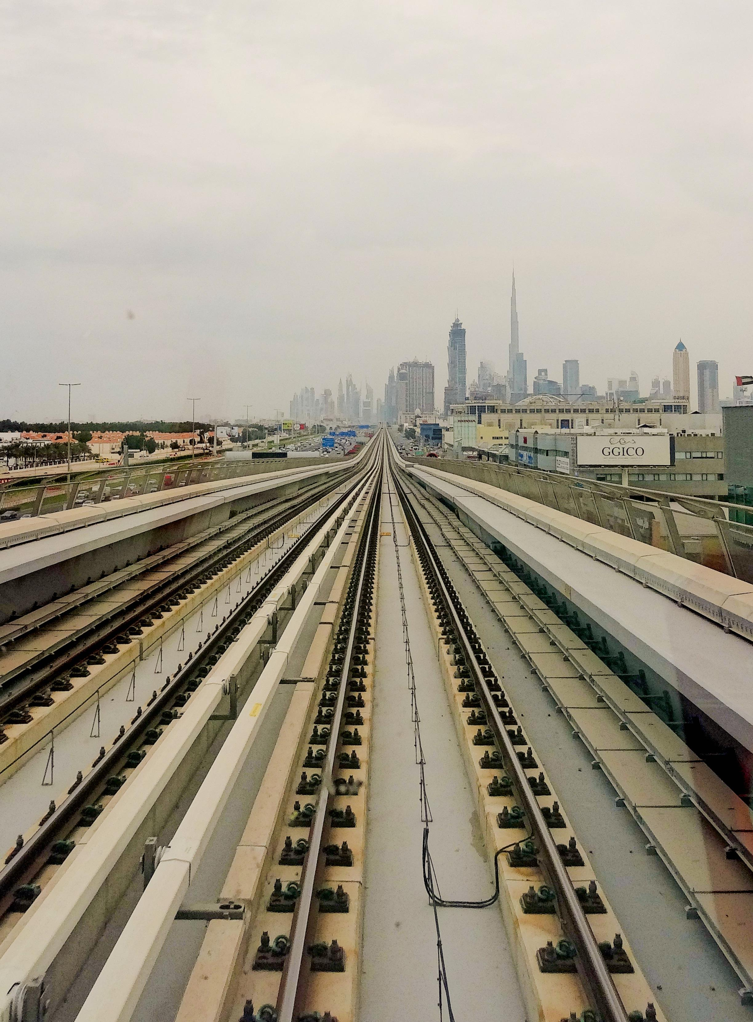Dubai metro skyline