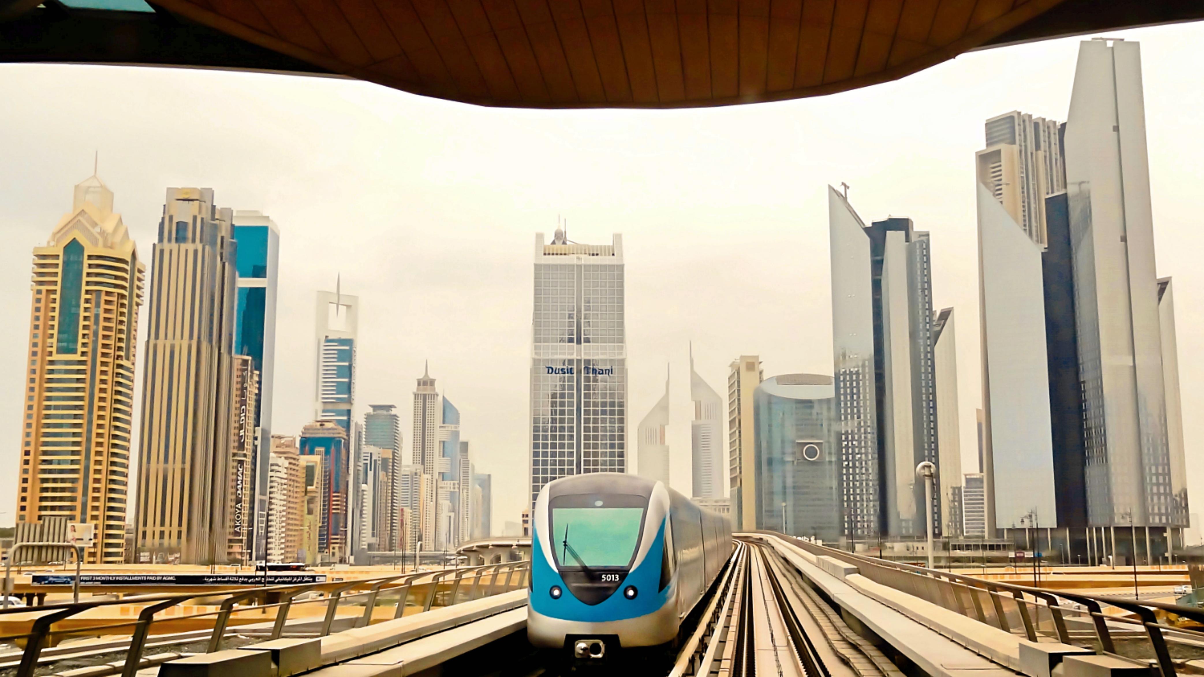 Dubai metro Sheikh Zayed Road