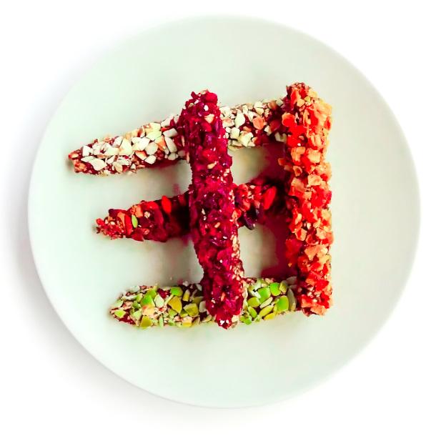 Fit ciastka batoniki z bananów i płatków owsianych kolorowe dla dzieci dieta angellovesdreams