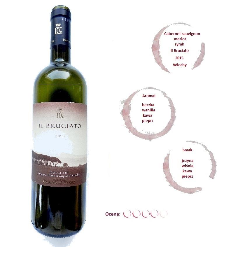 włoskie wino czerwone wytrawne cabernet sauvignon merlot syrah il bruciato marchesi antinori angellovesdreams