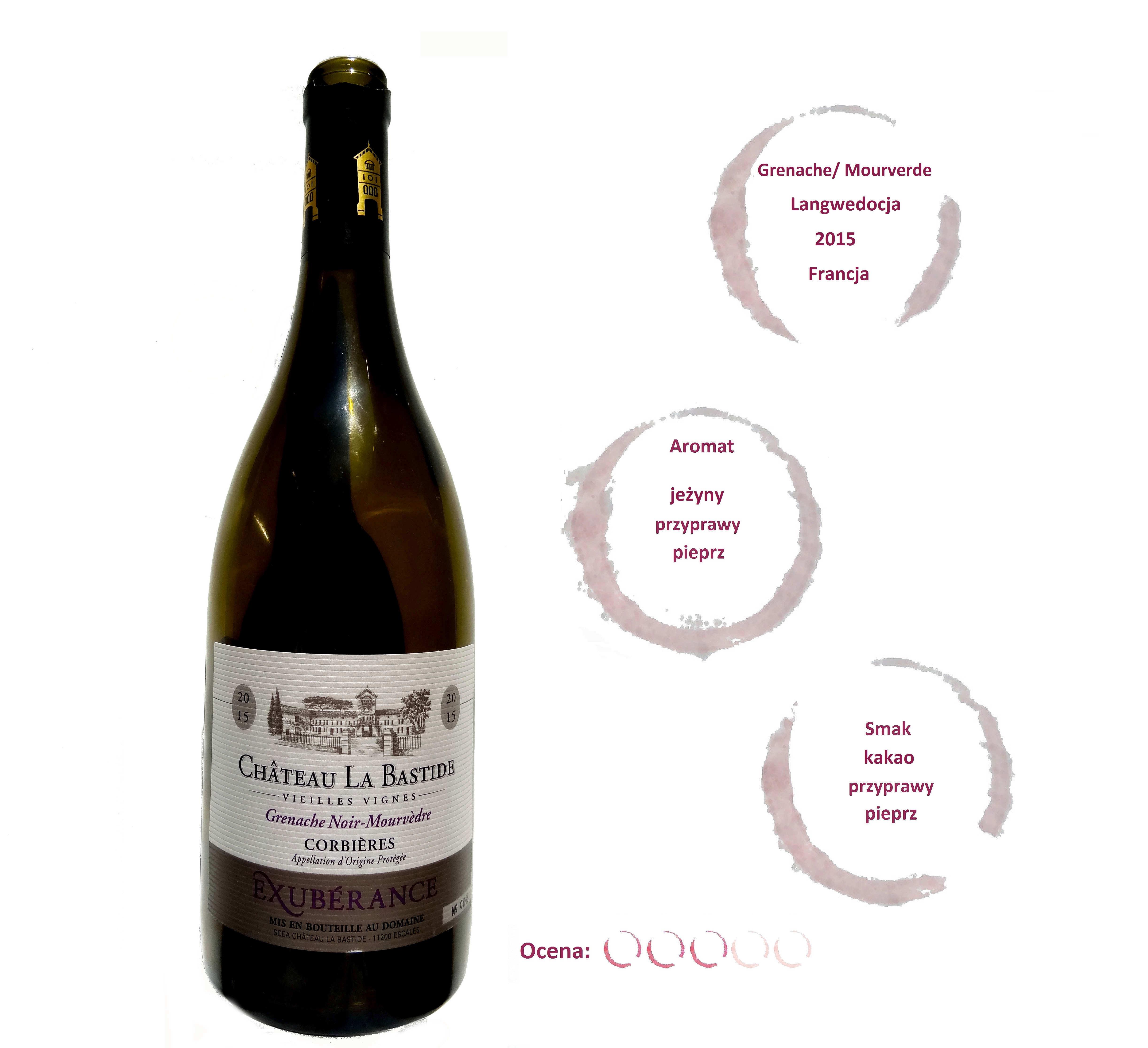 francuskie wino czerwone wytrawne wytrawne La Bastide Exubérance Corbières wine angellovesdreams