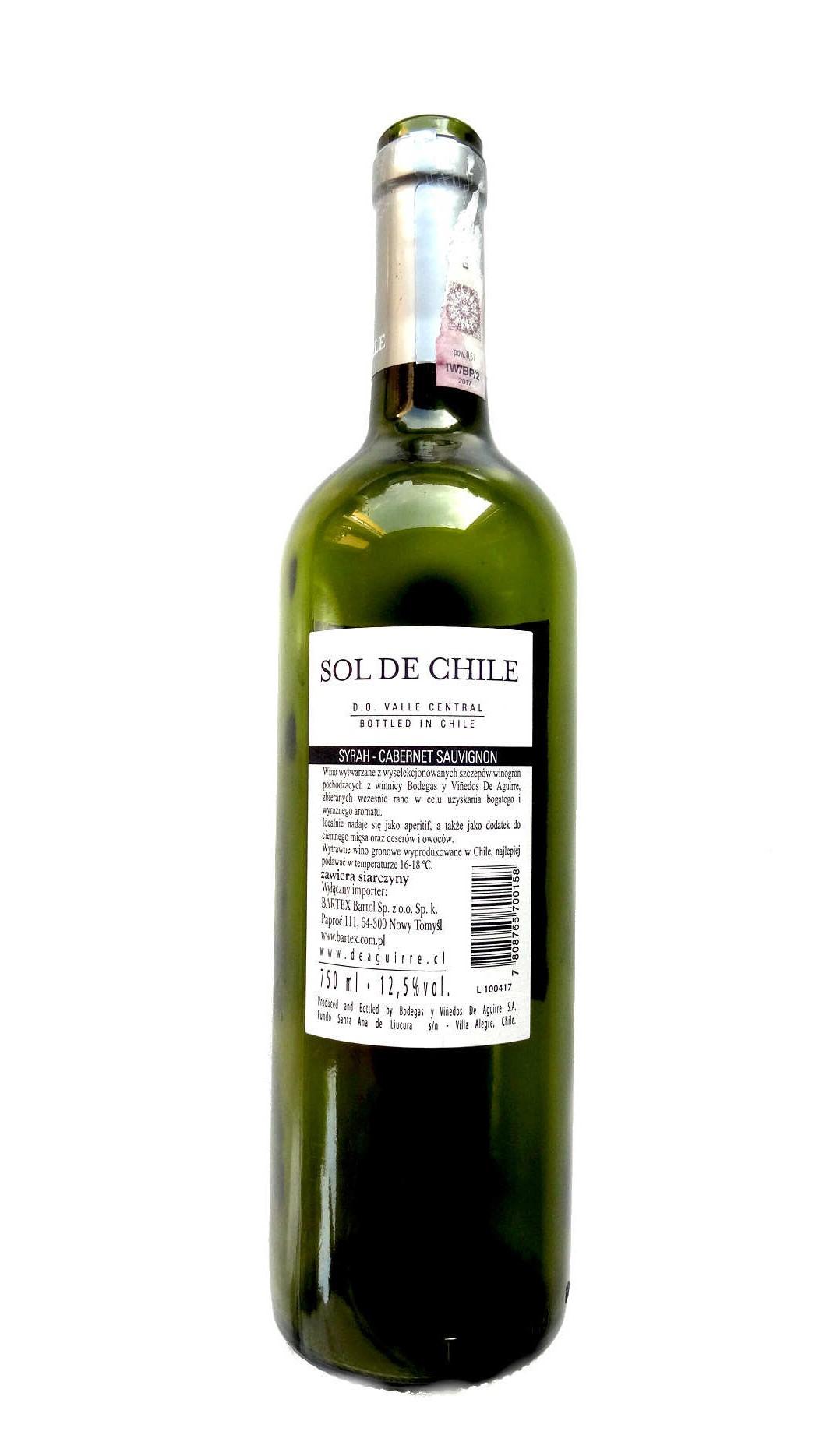 chilijskie wino czerwone wytrawne wytrawne sol de chile wine angellovesdreams