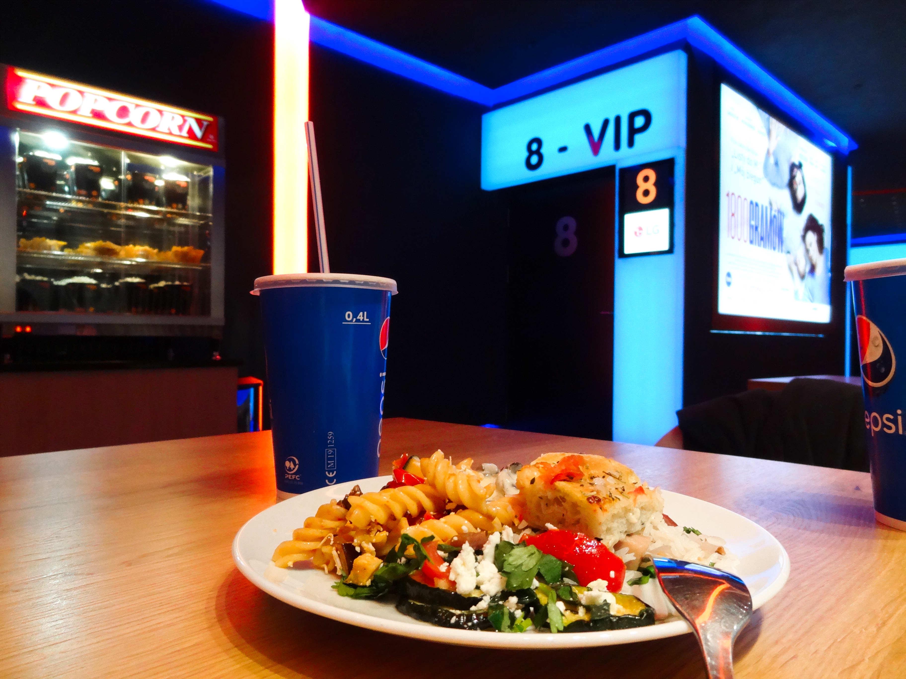 cinema city vip wroclavia sałatka z makaronem grillowane bakłażany