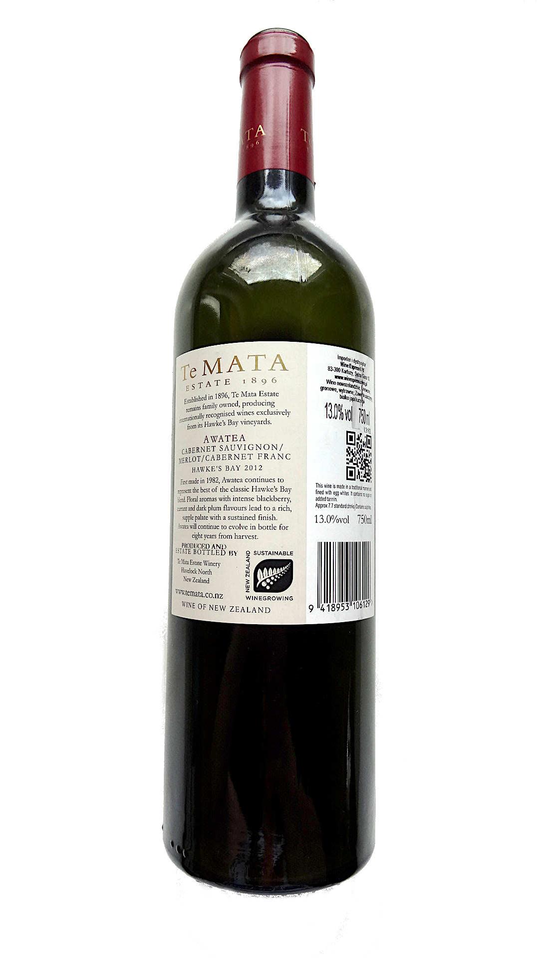 nowozelandzkie wino czerwone wytrawne te mata awatea cabernets malbec wine angellovesdreams